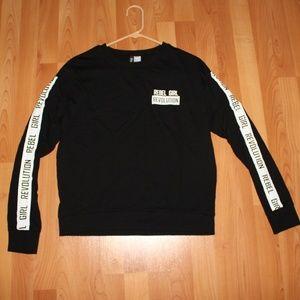Divided Sz M Black Sweater Rebel Girl Revolution